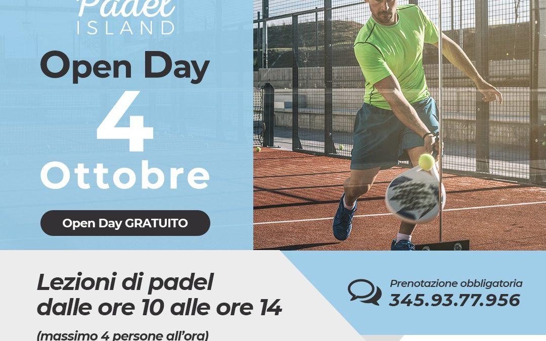 Il 4 ottobre partecipa all'Open Day di Padel Island